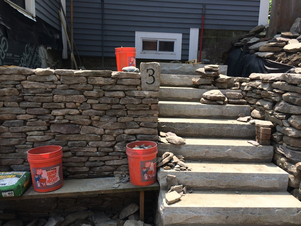 Maynard, MA - Stone Steps and Fieldstone Walls