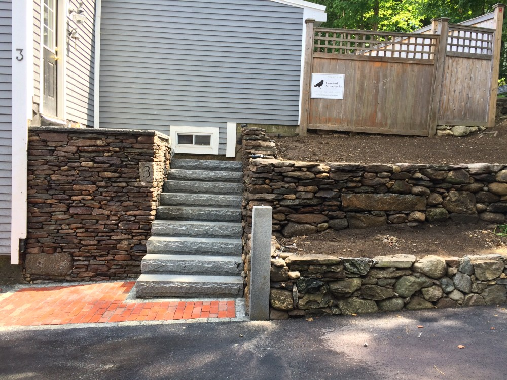 Maynard, MA - Stone Steps and Stone Walls