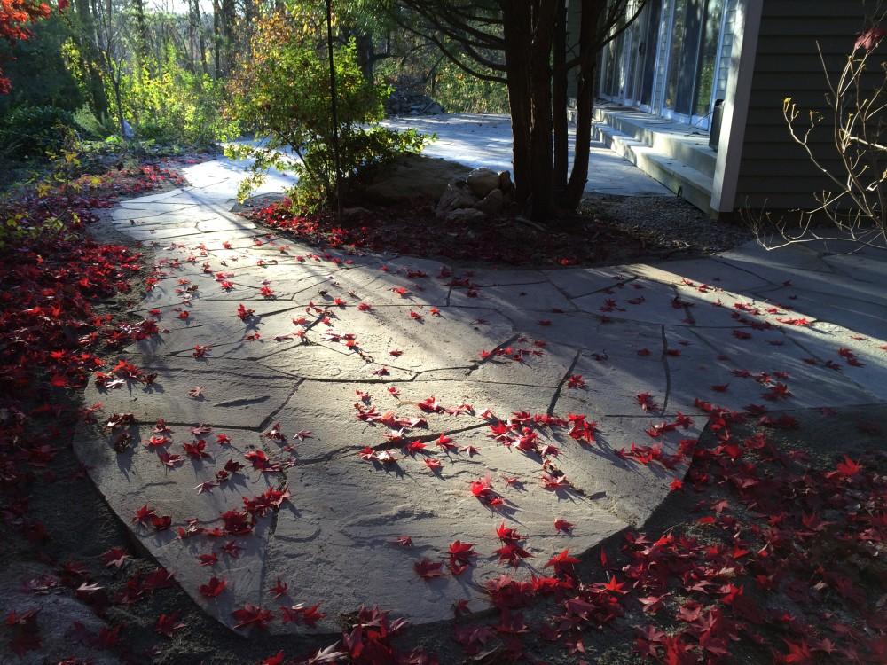 flagstone patio in Lincoln, MA