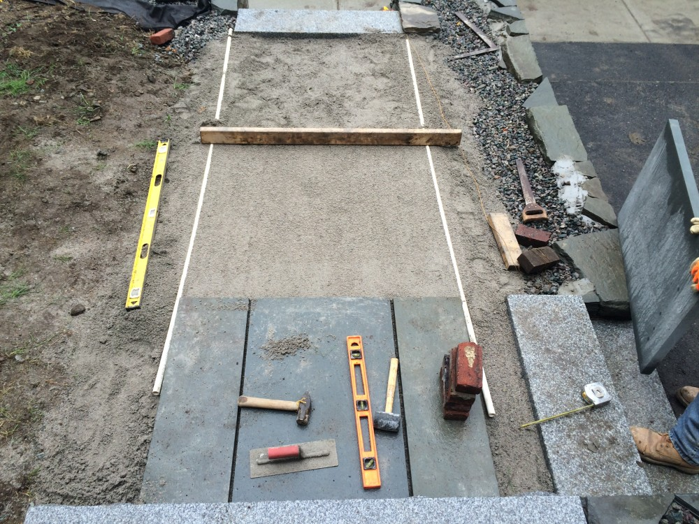 bluestone walkway installation - Somerville, MA