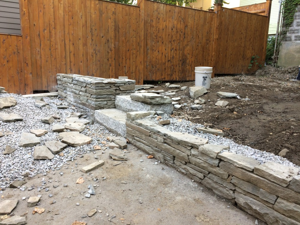 raised patio and walls - somerville, ma