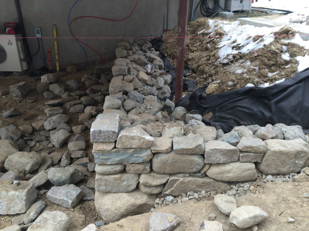 Fieldstone Retaing Wall - Lincoln, MA