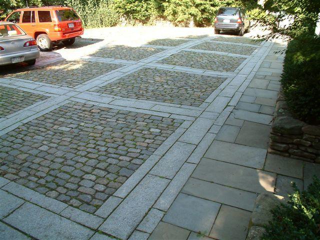 Mixed stone patio