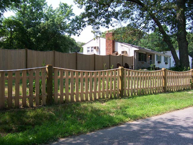 Spaced Board Fence