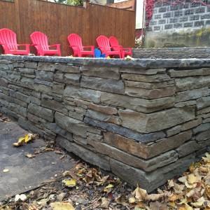 Thin Stack Mortared Wall