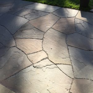 Completed Flagstone Patio Installation
