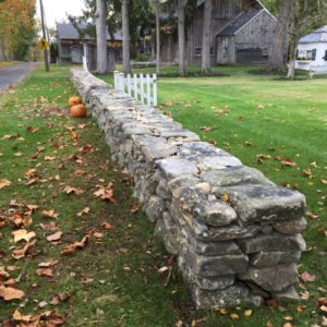 Drystack Stone Wall - S. Windsor, CT
