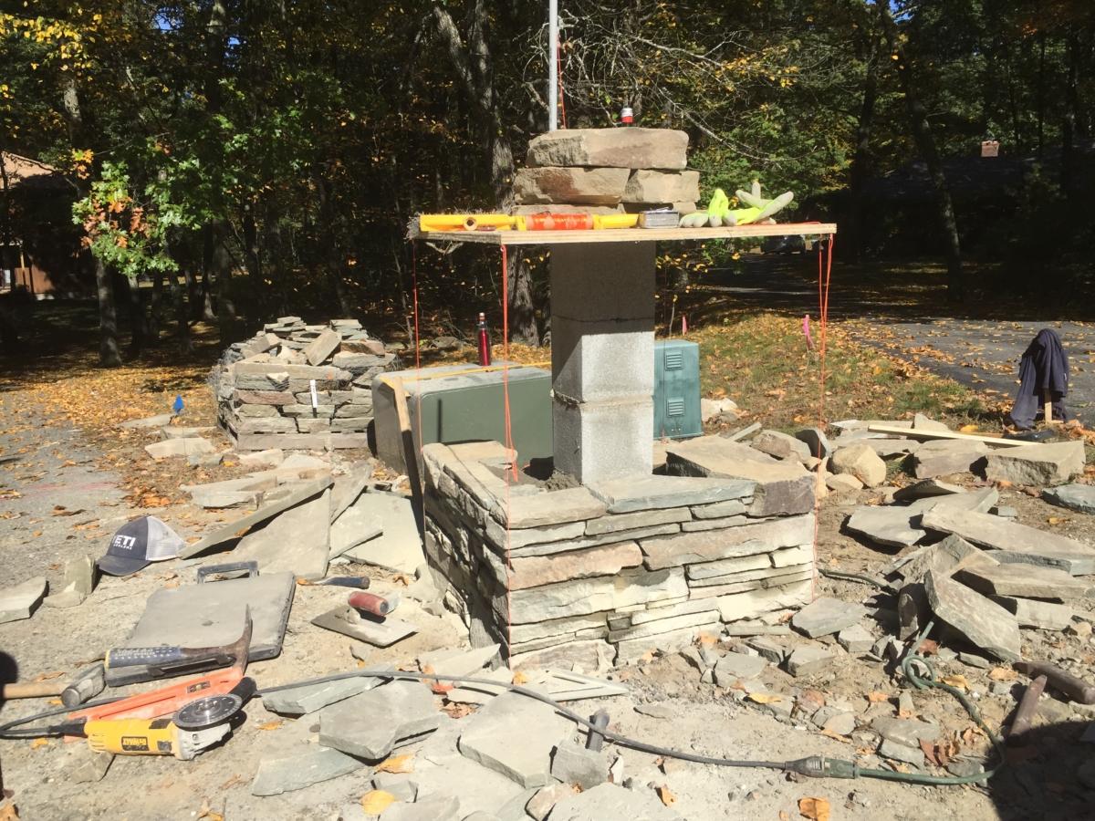 Stone Mailbox - Construction