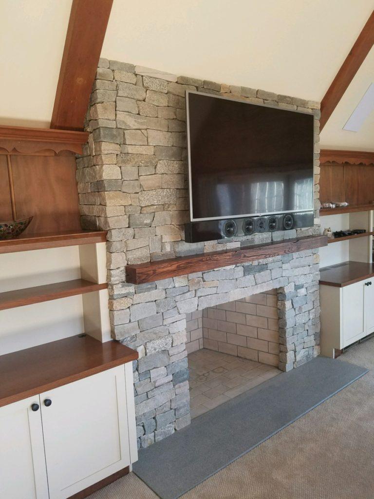 Stone Veneer Fireplace, MA