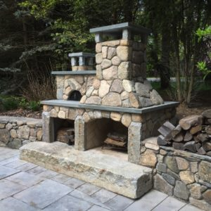 Stone Fireplace Installation - Concord, MA