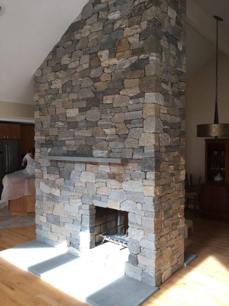 Stone Veneer Fireplace - Acton, MA