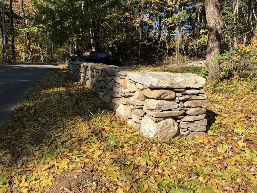 Completed Stone Wall - Westford, MA