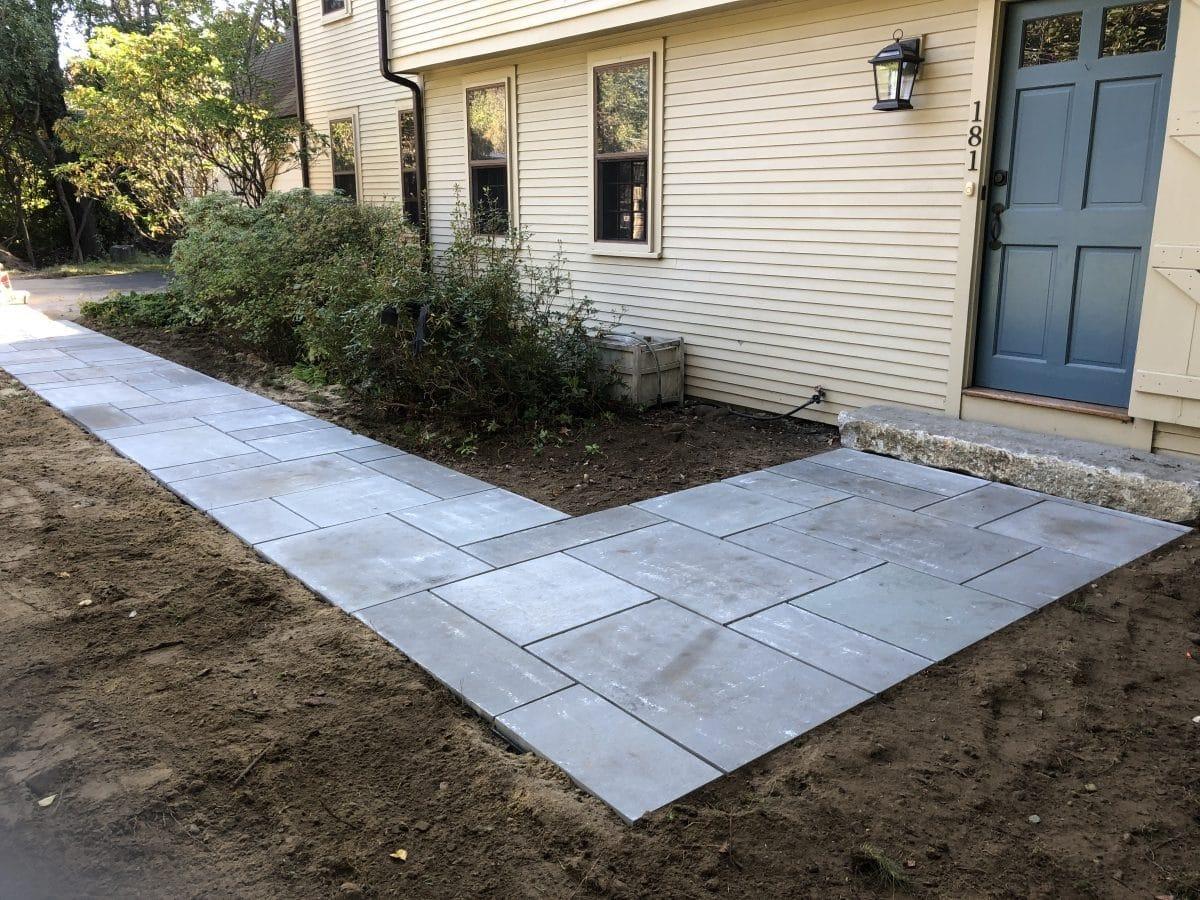 Bluestone Walkway Installation - Sudbury, MA